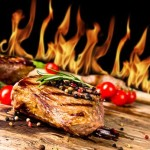 Steak vom offenen Feuer